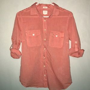 Women's J. Crew Button Up in Pink, S